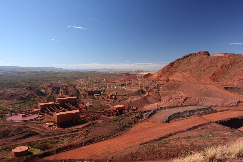 Rud żelaza górniczych operacj Pilbara regionu zachodnia australia obraz stock