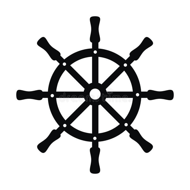 Rudder - czerń ilustracji