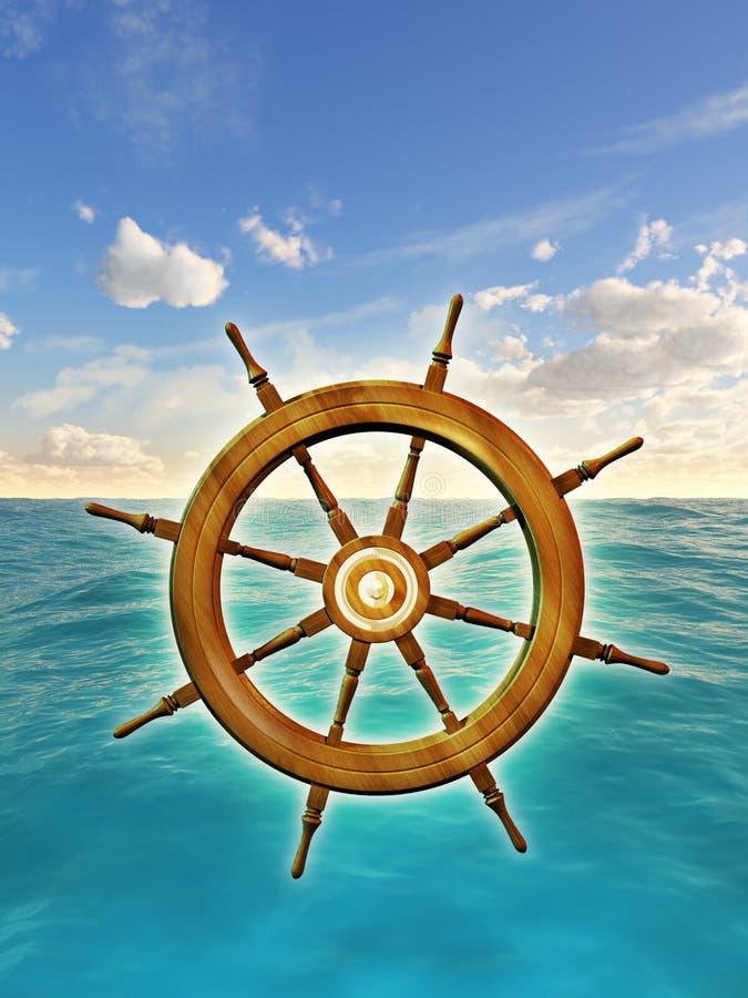 Download Rudder wheel stock illustration. Image of bridge, helm - 28308284