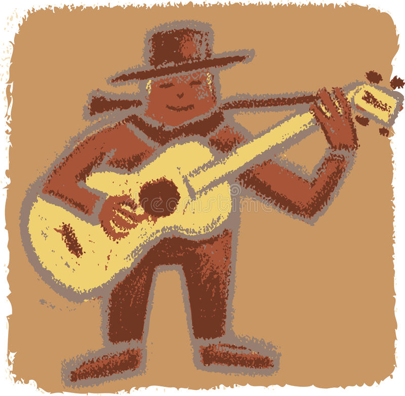 Download Rude bluesman stock vector. Image of vintage, play, music - 25343470