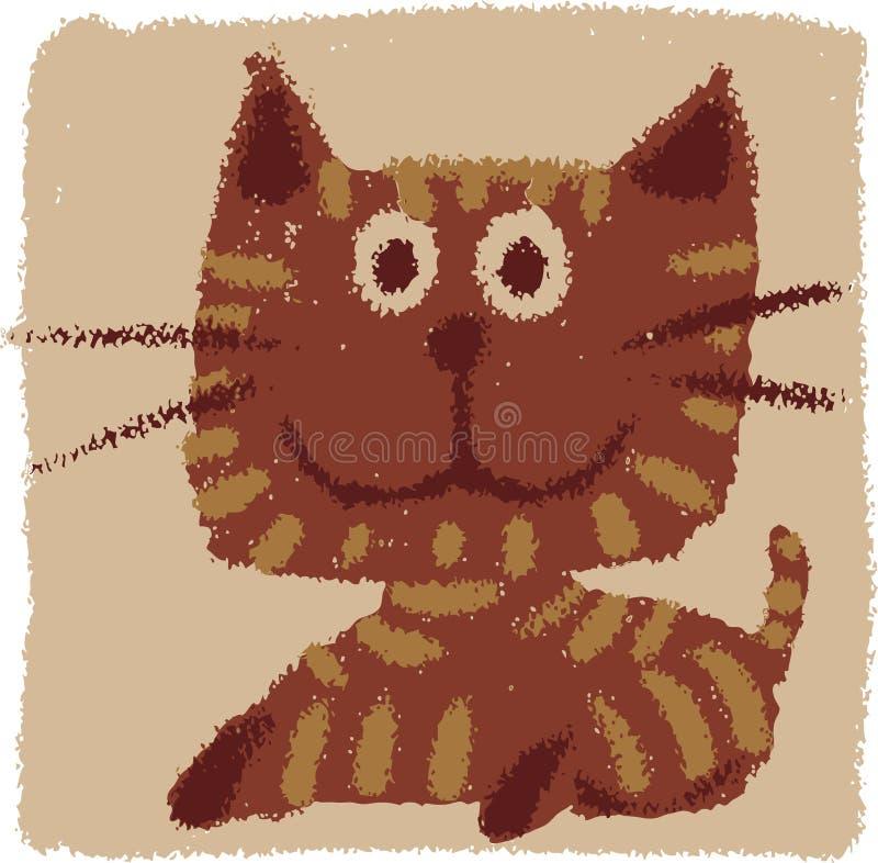 Rude cat vector illustration