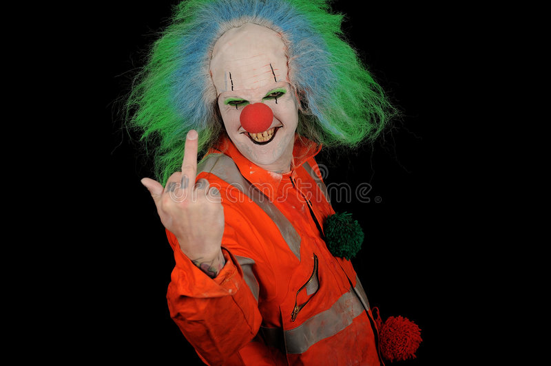 Download Rude Clown stock image. Image of obscene, hair, mean, weird - 8000499
