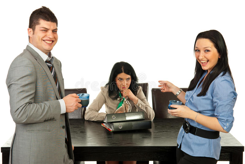 Download Rude People Laughing Out Loud Of Their Colleague Stock Image - Image: 24476011