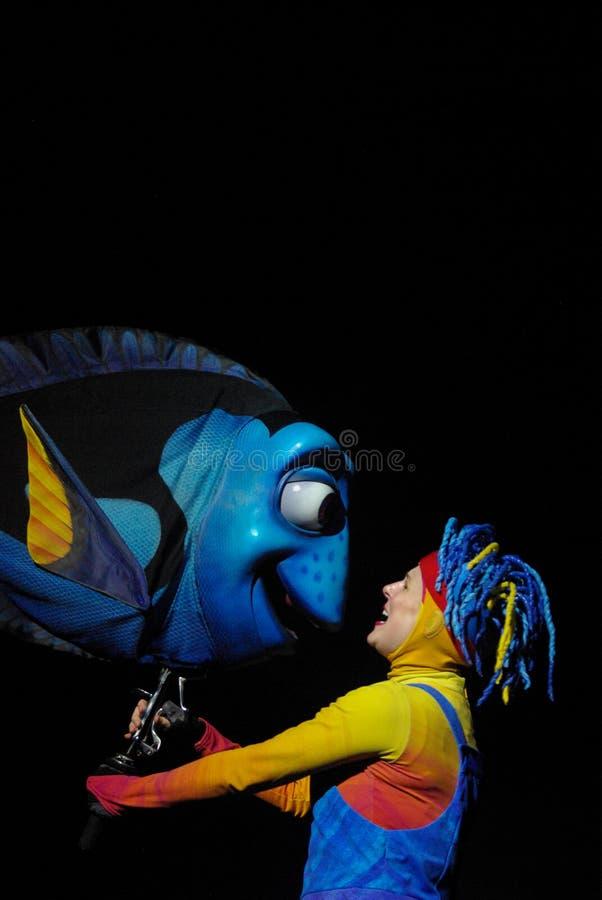 Ruderboot-Marionette im Tierreich, das Nemo Musical findet lizenzfreie stockfotografie