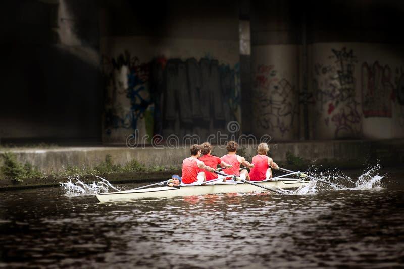 Rudersportteam stockbild