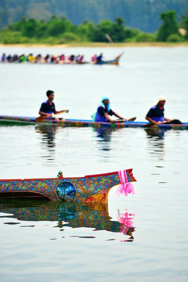 Ruderwettkampf in Narathiwat, Thailand stockbilder