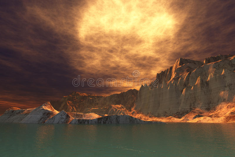 Download Rudes Seascape stock illustration. Image of fantasy, isle - 23534517