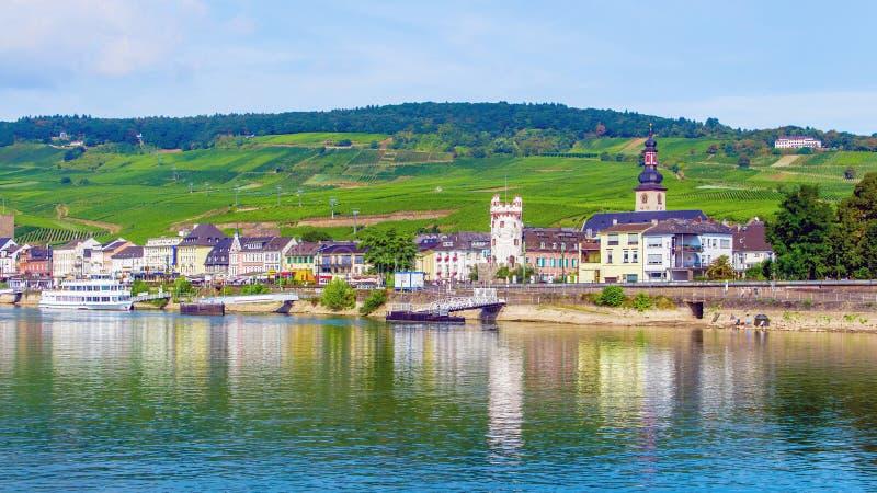 Rudesheim am Rhein, городок в ущелье Рейна, Германии стоковое фото