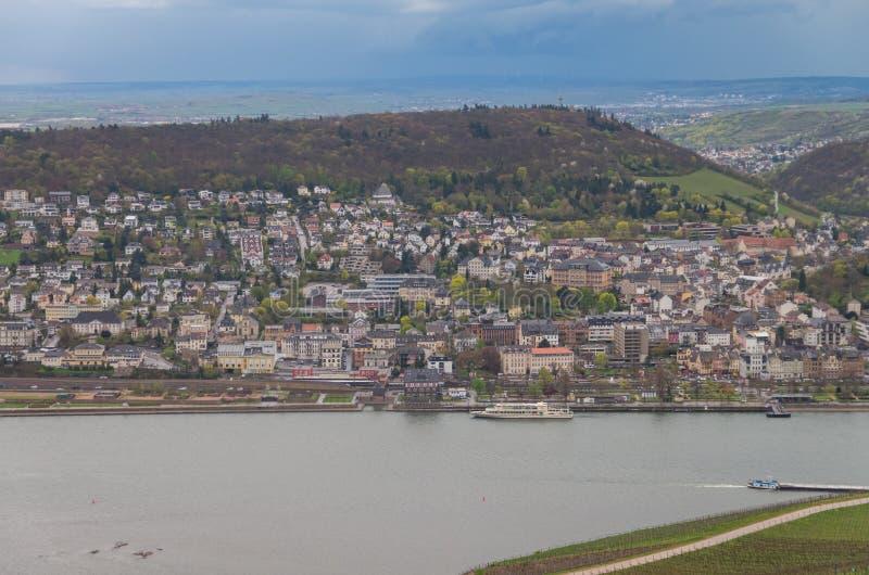 Rudesheim rhein Tyskland fotografering för bildbyråer