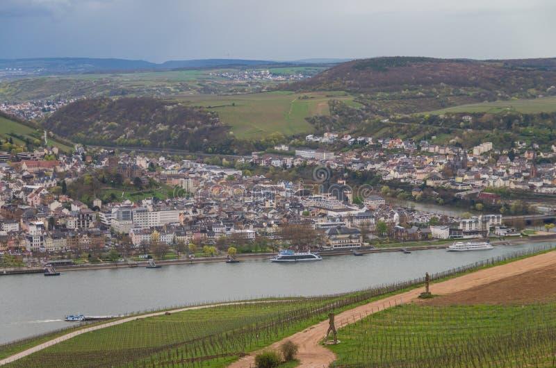 Rudesheim rhein Tyskland arkivbilder
