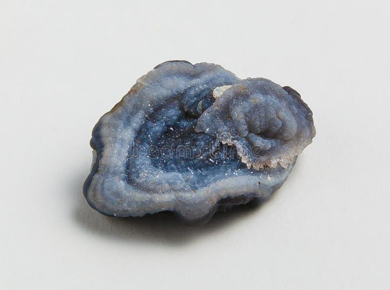 Rudny błękitny chalcedonu jon obrazy stock