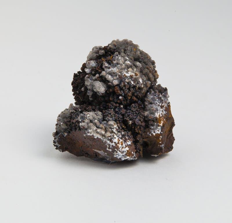Rudny limonit na białym tle zdjęcie stock