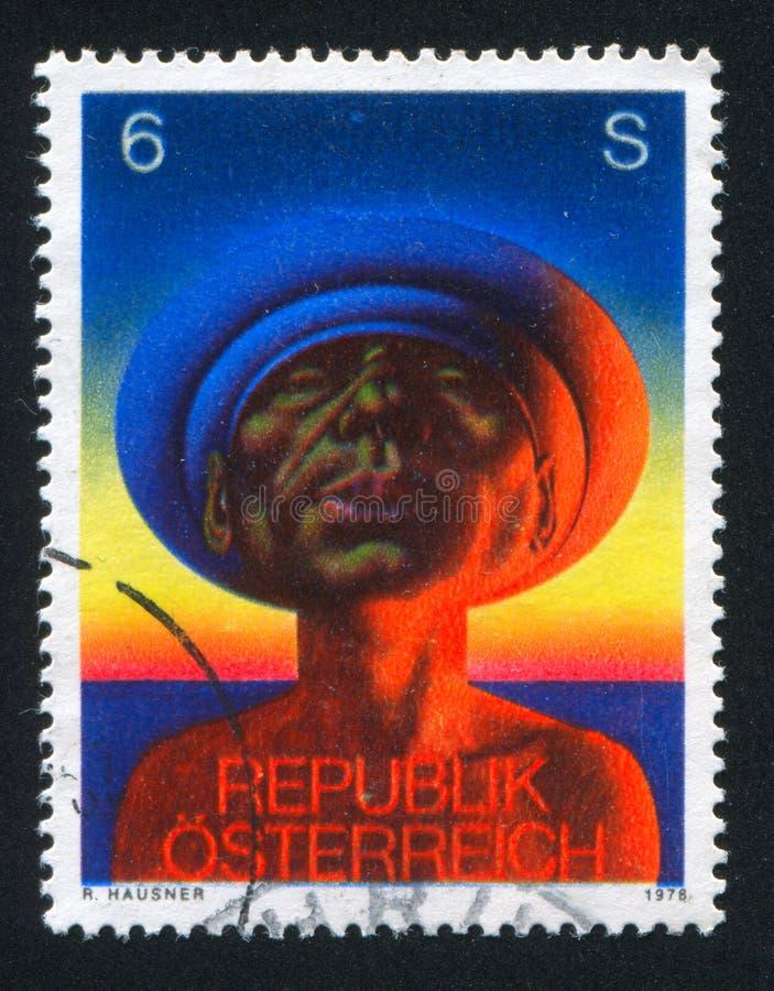 Rudolf Hausner royaltyfria bilder