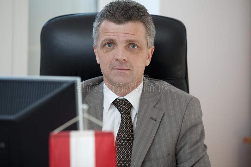 Rudolf Lukavsky. Commercial Counselor for Romania and Moldova in the Austrian Embassy in Bucharest, Rudolf Lukavsky, speaking in an interview with Agerpres on a royalty free stock photo