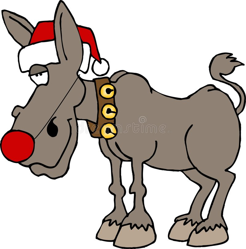 Rudolf The Red Nosed Donkey Royalty Free Stock Photography