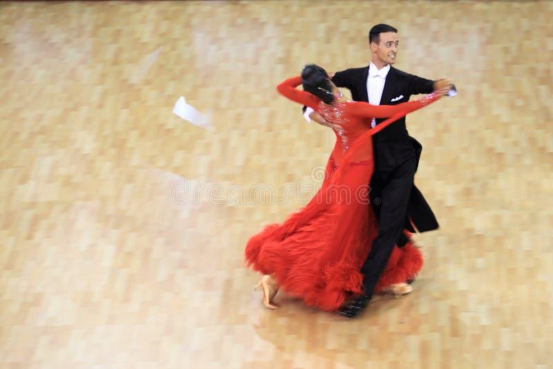 Rudolf Stupka en Kristyna Hlavicova die - danst stock afbeelding