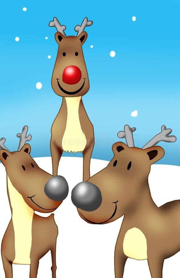 Rudolf y amigos ilustración del vector