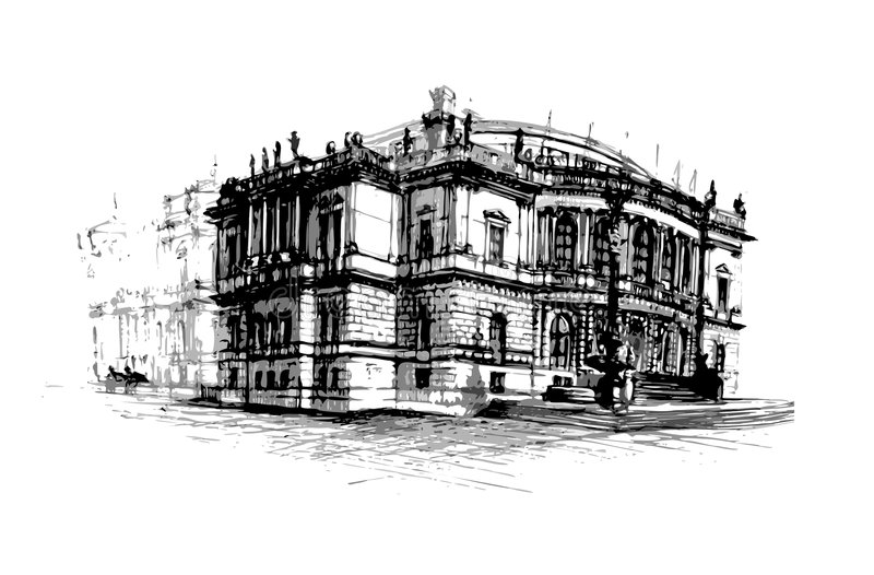 Rudolfinum. The rudolfinum music hall prague