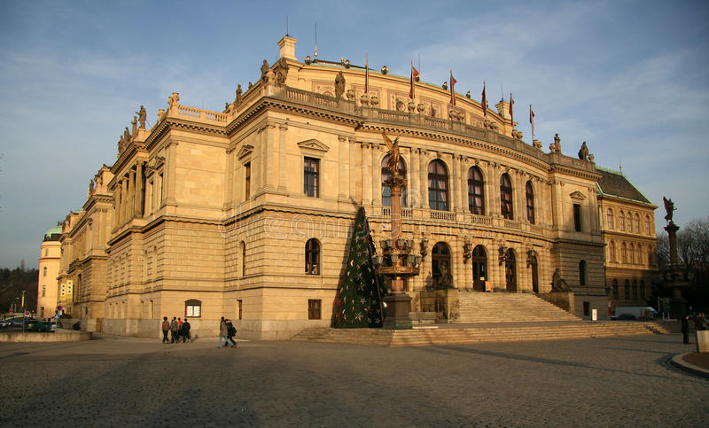 Rudolfinum salle de concert - Prague photo libre de droits