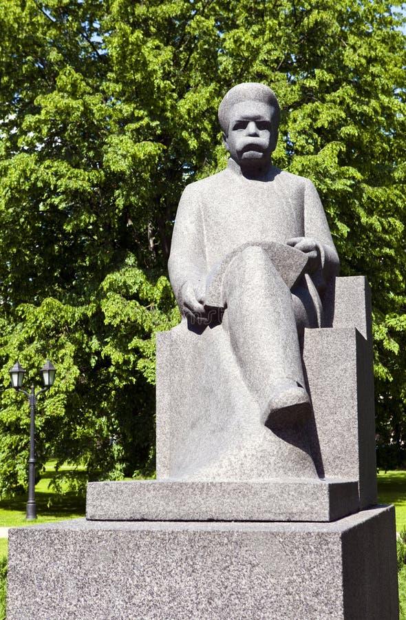 Rudolfs Blaumanis rzeźba w Ryskim zdjęcie royalty free