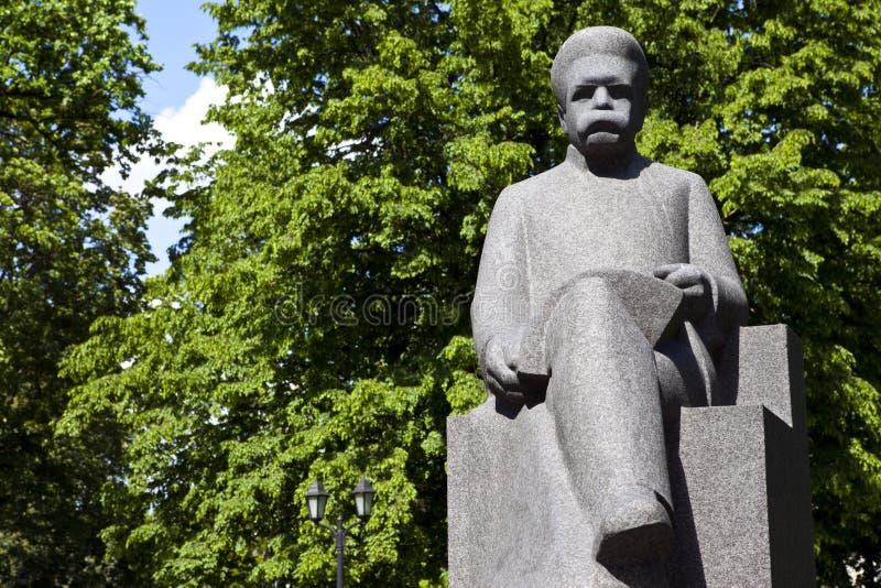 Rudolfs Blaumanis rzeźba w Ryskim fotografia royalty free