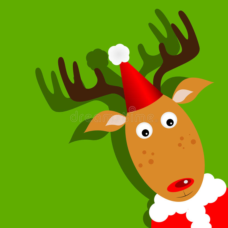 Download Rudolph stock vector. Illustration of horn, deer, smile - 21003725
