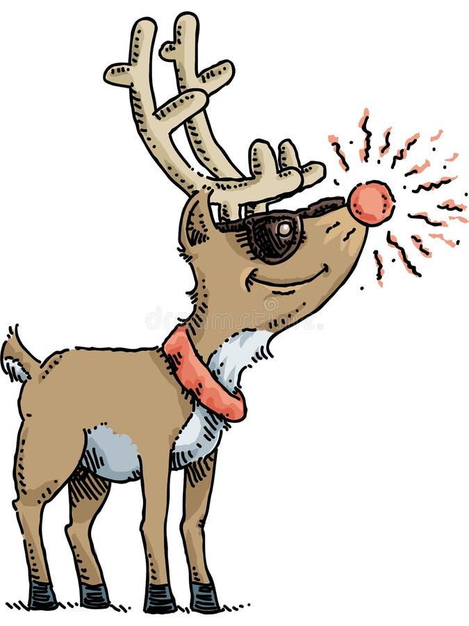 Rudolph cienie ilustracja wektor