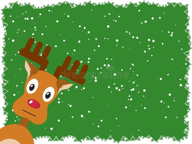 Rudolph com um fundo verde ilustração royalty free