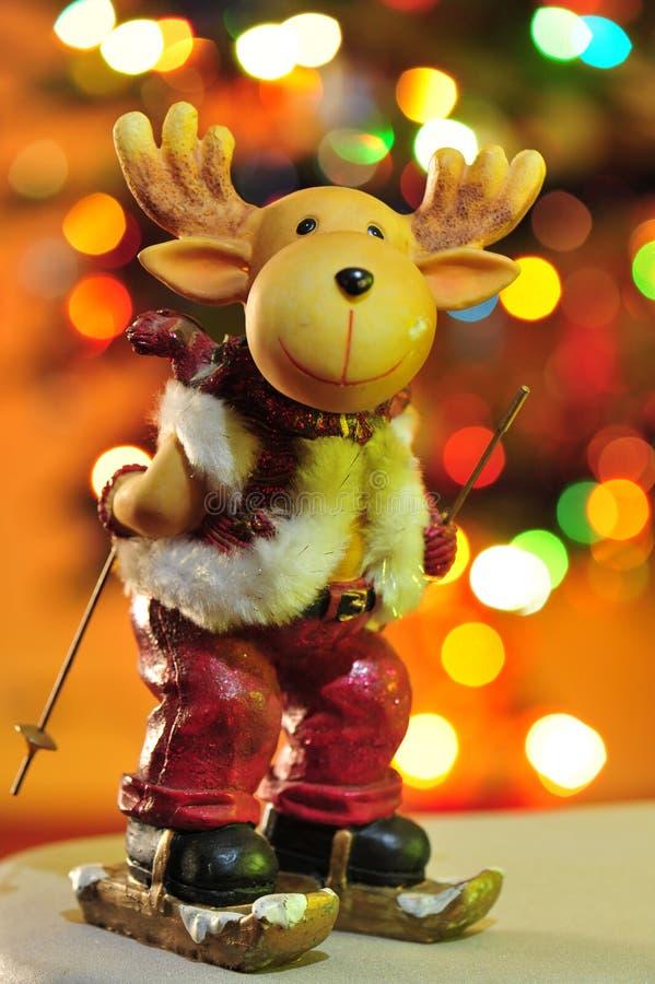Rudolph das Ren auf buntem Hintergrund lizenzfreies stockbild