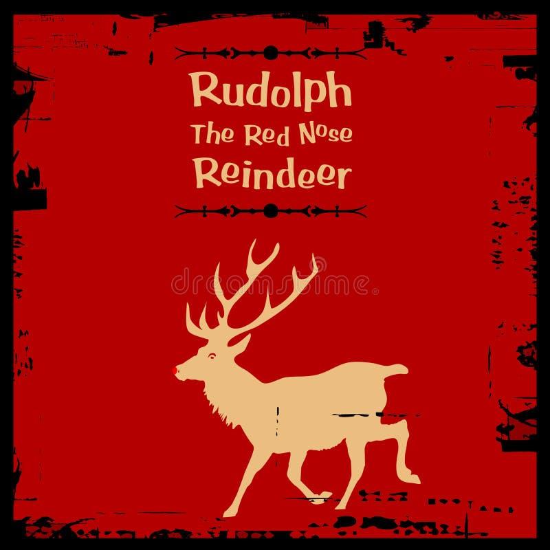 Rudolph das rote Wekzeugspritzenren lizenzfreie abbildung