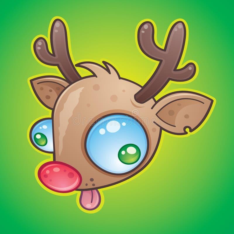 Rudolph el reno con la nariz roja libre illustration