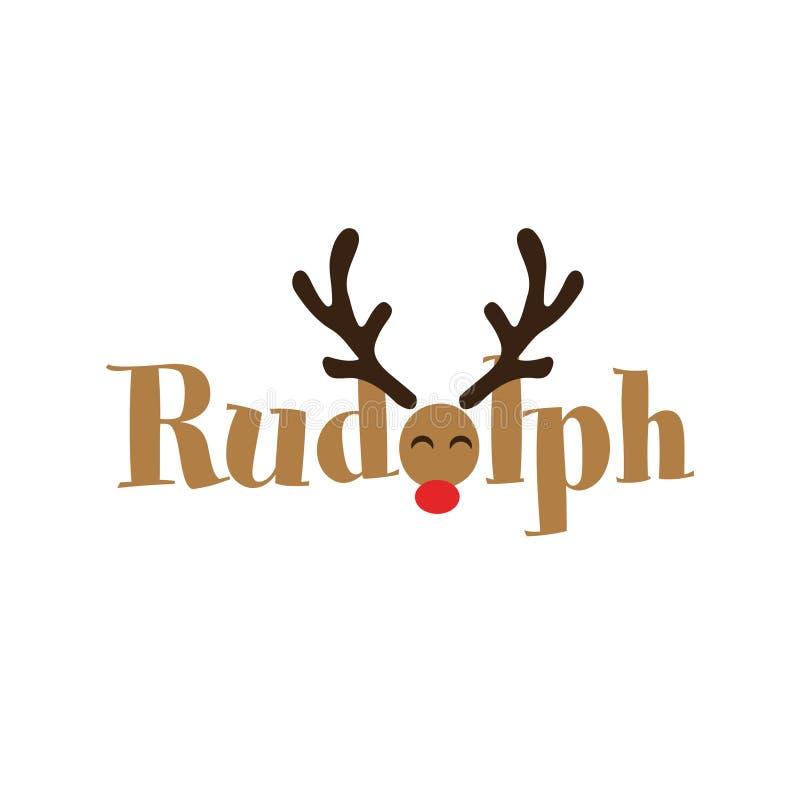 Rudolph el reno olfateado rojo libre illustration
