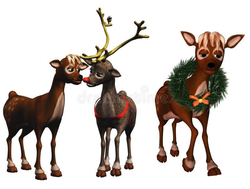 Rudolph et rhonda illustration de vecteur