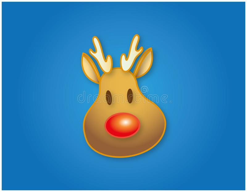 Rudolph illustration for christmas decoration royalty free stock photography
