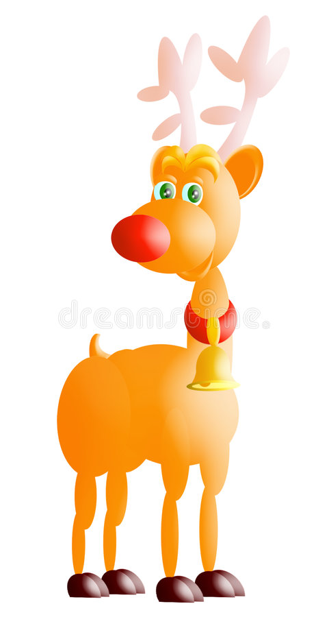 Rudolph red nose vector illustration
