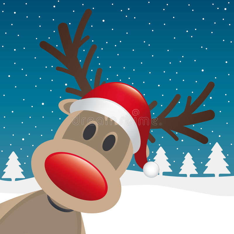 Free Rudolph Reindeer Red Nose And Hat Stock Photos - 26616753