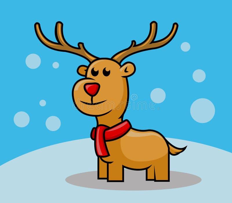 Rudolph-Rotwild lizenzfreie abbildung