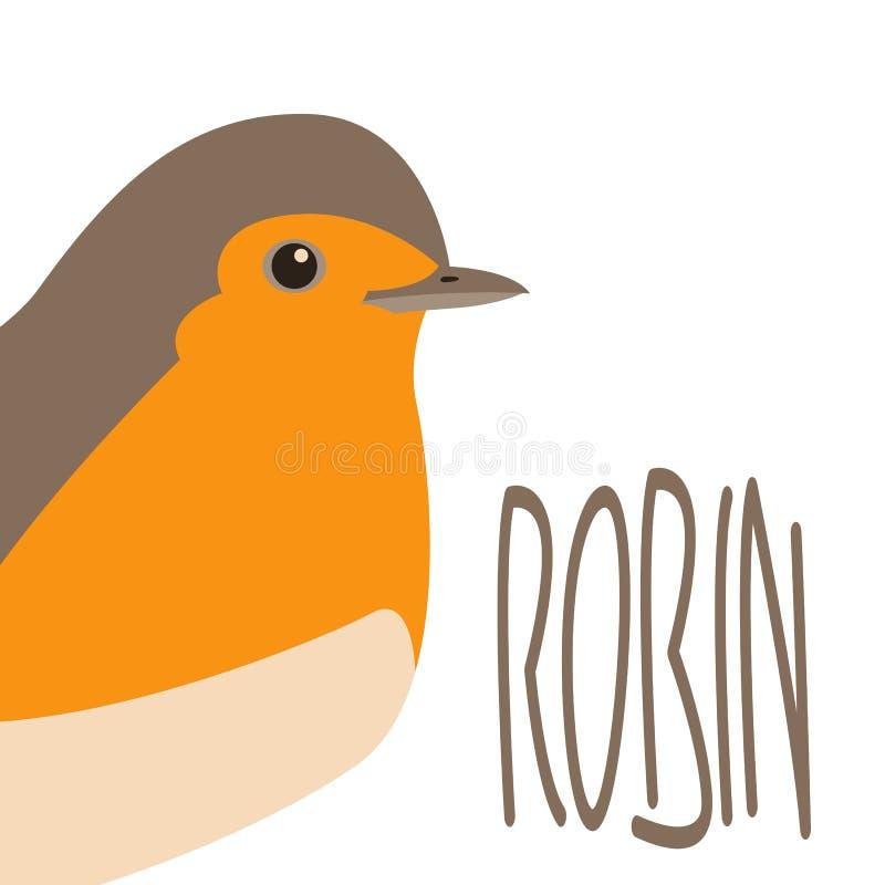 Rudzika mieszkania pieśniowy ptasi wektorowy ilustracyjny styl ilustracja wektor