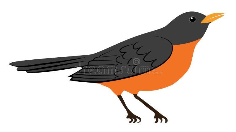 Rudzika ptak royalty ilustracja
