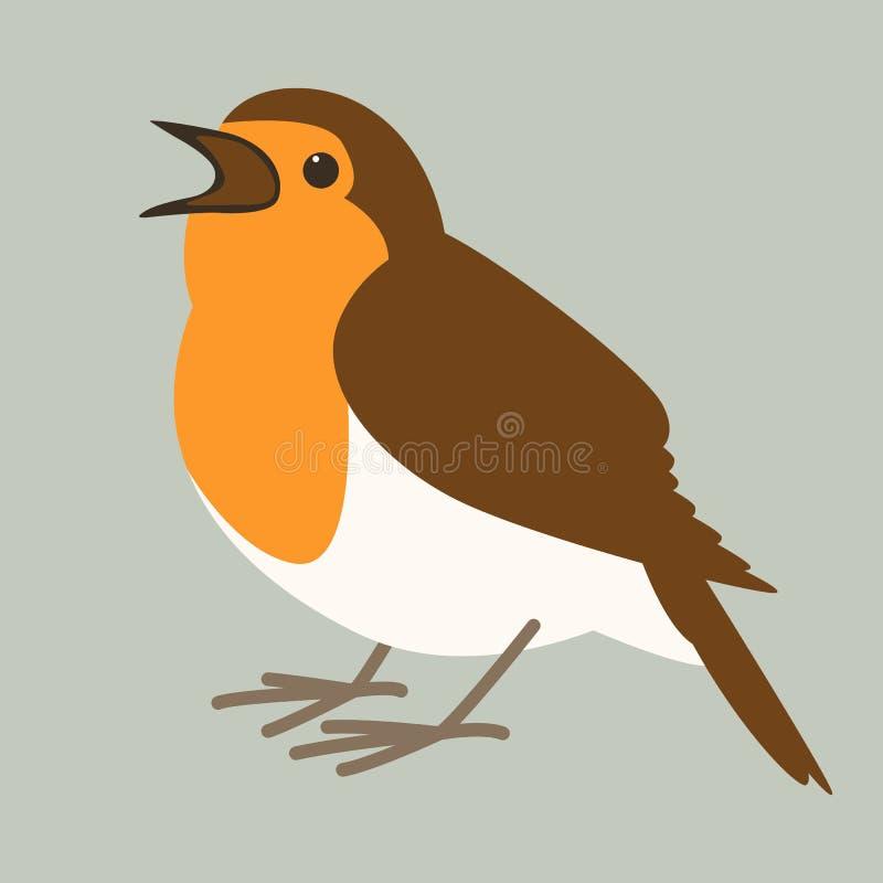 Rudzika ptak, wektorowa ilustracja, mieszkanie ilustracji