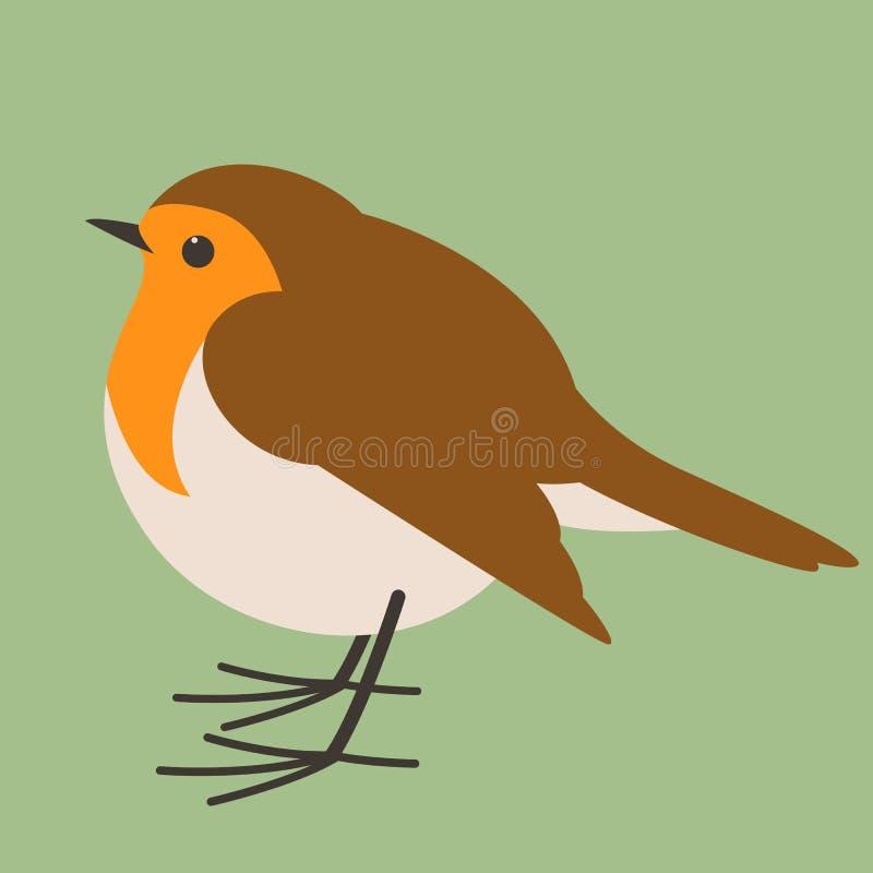 Rudzika ptak, wektorowa ilustracja, mieszkanie styl, profil ilustracji