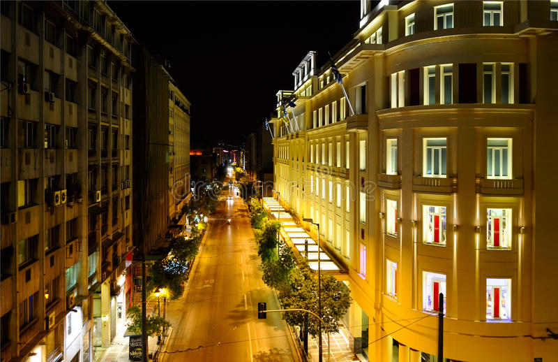 Rue à Athènes images libres de droits