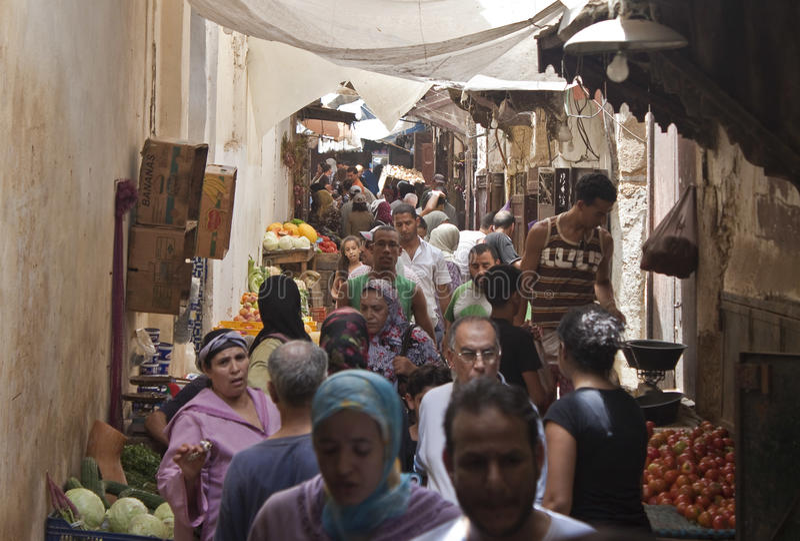 Rue à Fez images libres de droits