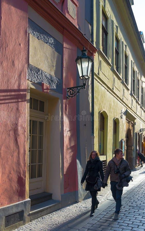 Rue à Prague photo libre de droits