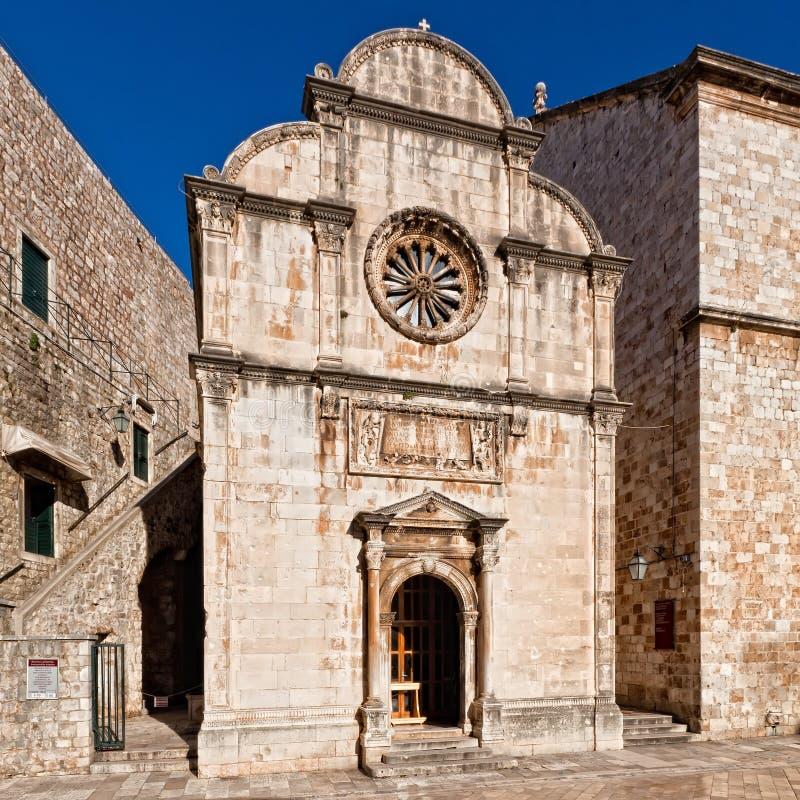 Rue Église de sauveur dans Dubrovnik, Croatie photos libres de droits