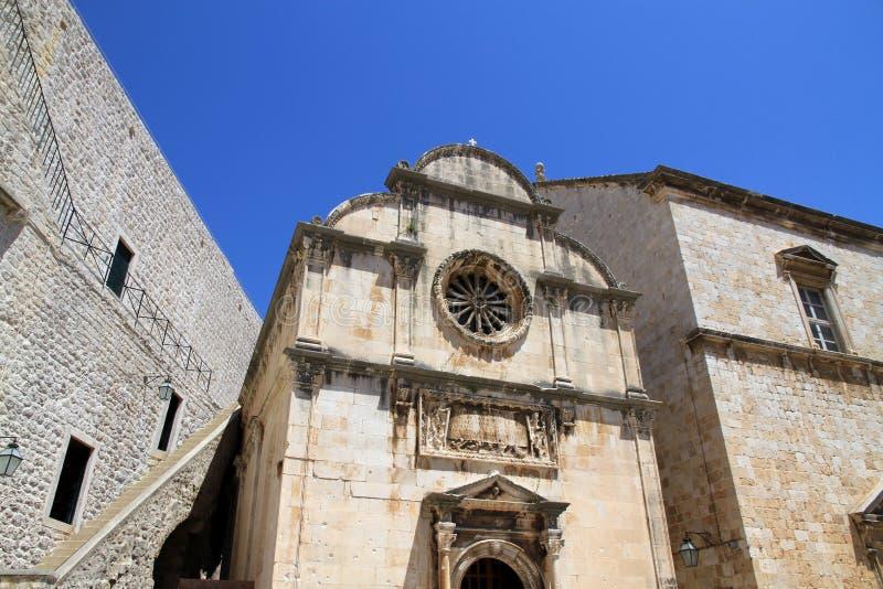 Rue Église de sauveur, Dubrovnik photo libre de droits