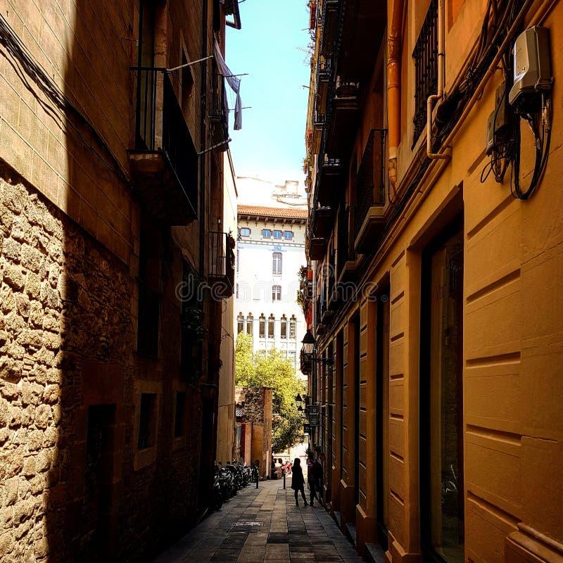 Rue étroite en Espagne image stock