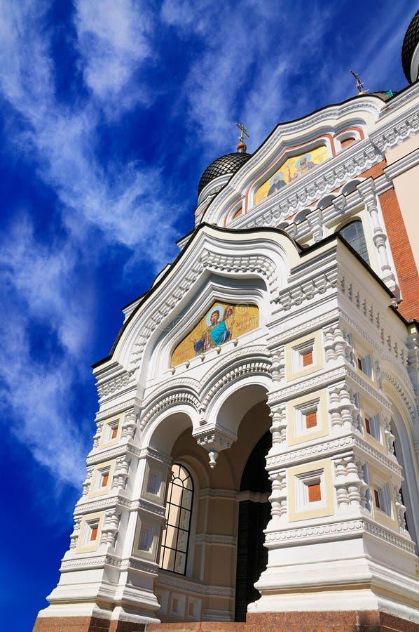 Rue Alexandre Nevsky, Tallinn de cathédrale photo libre de droits