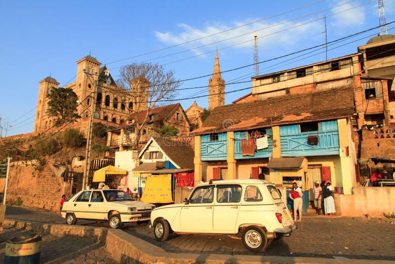 Rue Antananarivo de palais royal image libre de droits