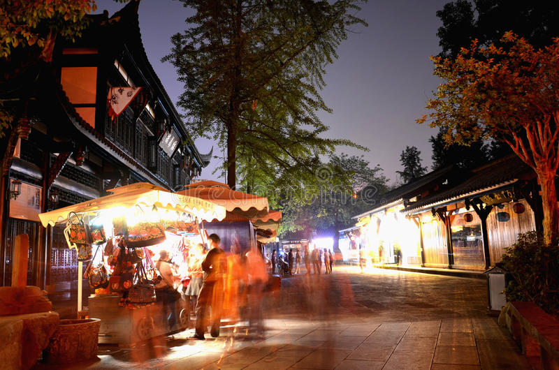 Rue antique de Jinli image stock